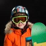 Children snowboarding